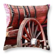 Calico Ghost Town Water Wagon Throw Pillow