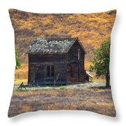 Calico Grass  Throw Pillow