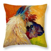 Calico Llama Throw Pillow
