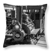 Calico Odessa Train In Black And White Throw Pillow