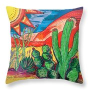 Caliente Throw Pillow