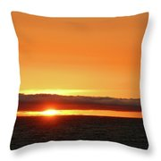 Calif Sunset March 2011 Throw Pillow