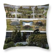 California Academy Of Sciences Living Roof In San Francisco Throw Pillow