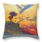 California - America's Vacation Land And New York Central Lines - Retro Travel Poster - Vintage Throw Pillow