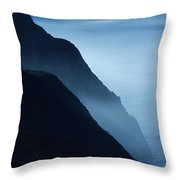 California Big Sur Coast Throw Pillow