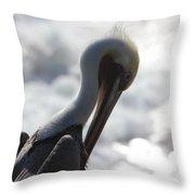 California Brown Pelican 1 Throw Pillow