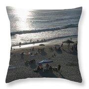 California Carlsbad Beach Almost Sunset Throw Pillow