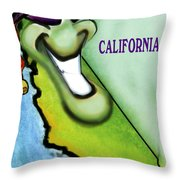 California Christmas Throw Pillow