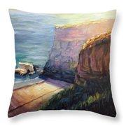 California Cliffs Throw Pillow
