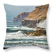 California Coasr Throw Pillow