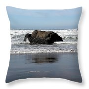 California Coast Ocean Waves 2 Throw Pillow