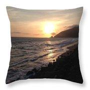 California Coast Sunset At Dunes Throw Pillow