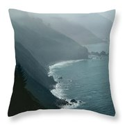 California Coastline Throw Pillow