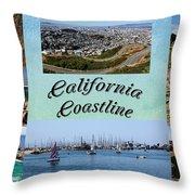 California Collage Throw Pillow