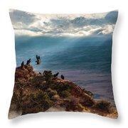 California Condors Throw Pillow