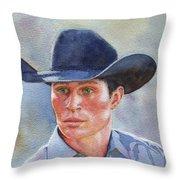 California Cowboy Throw Pillow