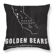 California Golden Bears / Ncaa College Football Art / Berkeley Throw Pillow by Damon Gray