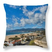 California Incline Palisades Park Ca Throw Pillow