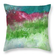 California Landscape- Expressionist Art By Linda Woods Throw Pillow