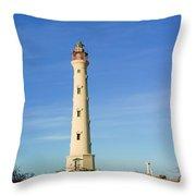 California Lighthouse Aruba Throw Pillow