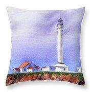 California Lighthouse Point Arena Throw Pillow