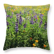 California Meadow Throw Pillow