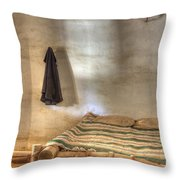 California Mission La Purisima Private Quarters Throw Pillow