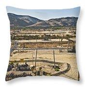 California Oil Field 14pdxl084 Throw Pillow