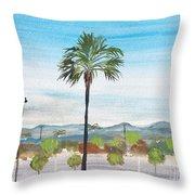 California Painting Throw Pillow