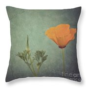 California Poppy Throw Pillow