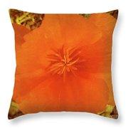 California Poppy Glow Throw Pillow