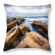 California Rocks Throw Pillow