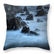 California Rocky Coastline Throw Pillow