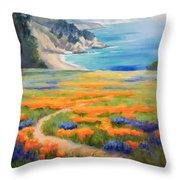 California Spring Big Sur Throw Pillow