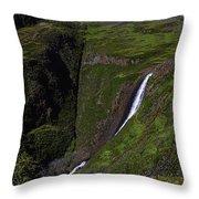 California Spring Falls Throw Pillow