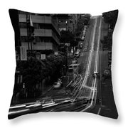 California St San Francisco Throw Pillow