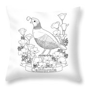 California state bird and flower coloring page digital art for Idaho state bird coloring page