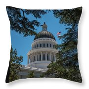 California State Capital Throw Pillow