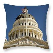 California State Capitol Cupola Throw Pillow