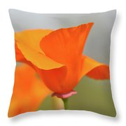 California State Poppy Macro Throw Pillow