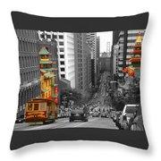 California Street San Francisco Throw Pillow