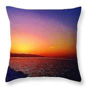 California Sunset 4.2008 Throw Pillow