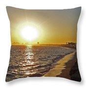 California Sunset Throw Pillow by Ernie Echols