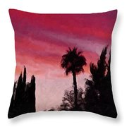 California Sunset Painting 1 Throw Pillow