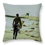 California Surfer Throw Pillow by Scott Pellegrin