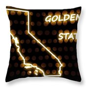 California - The Golden State Throw Pillow