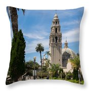 California Tower In Balboa Park Throw Pillow