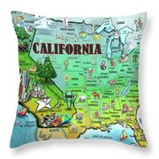 California Usa Throw Pillow