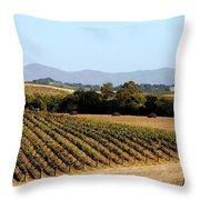 California Vineyards Throw Pillow