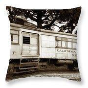 California Western  M 100 Gas Railcar  Skunk Train  Circa 1930 Throw Pillow